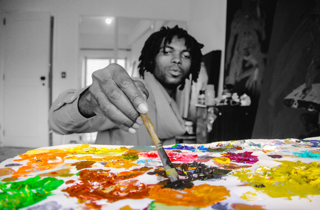 Now let me introduce you to my beloved and very talented friend Cristiano Mangovo, The Painter!