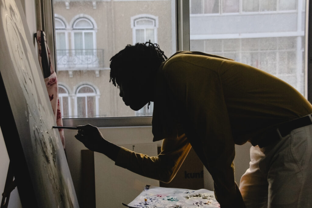 A very intimate creative moment at Magovo's studio in Lisbon.